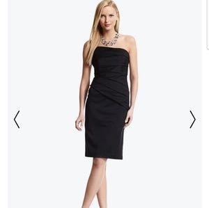 WHBM Matte Strapless Taffeta sheath dress
